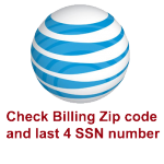 Check/Remove AT&T Billing Zip Code and last 4 SSN number
