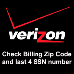 Check/Bypass Verizon iPhone Billing Zip Code and SSN number